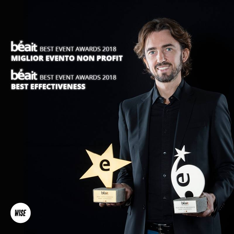 Luca Mastrostefano CEO Gruppo WISE - Vincitore BEA Best Event Awards 2018