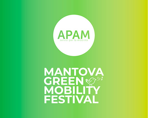 Concept visual logo Mantova green mobility festival 2019