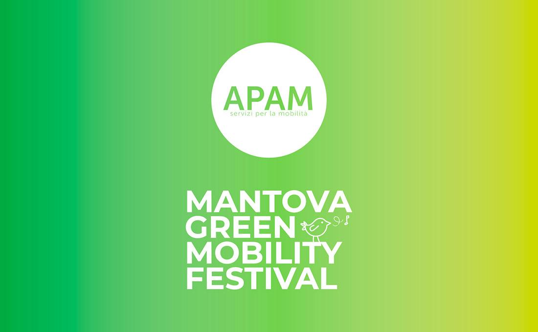 Concept visual logo Mantova green mobility festival