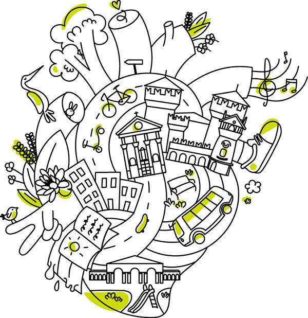 Concept Visual Mantova green mobility festival