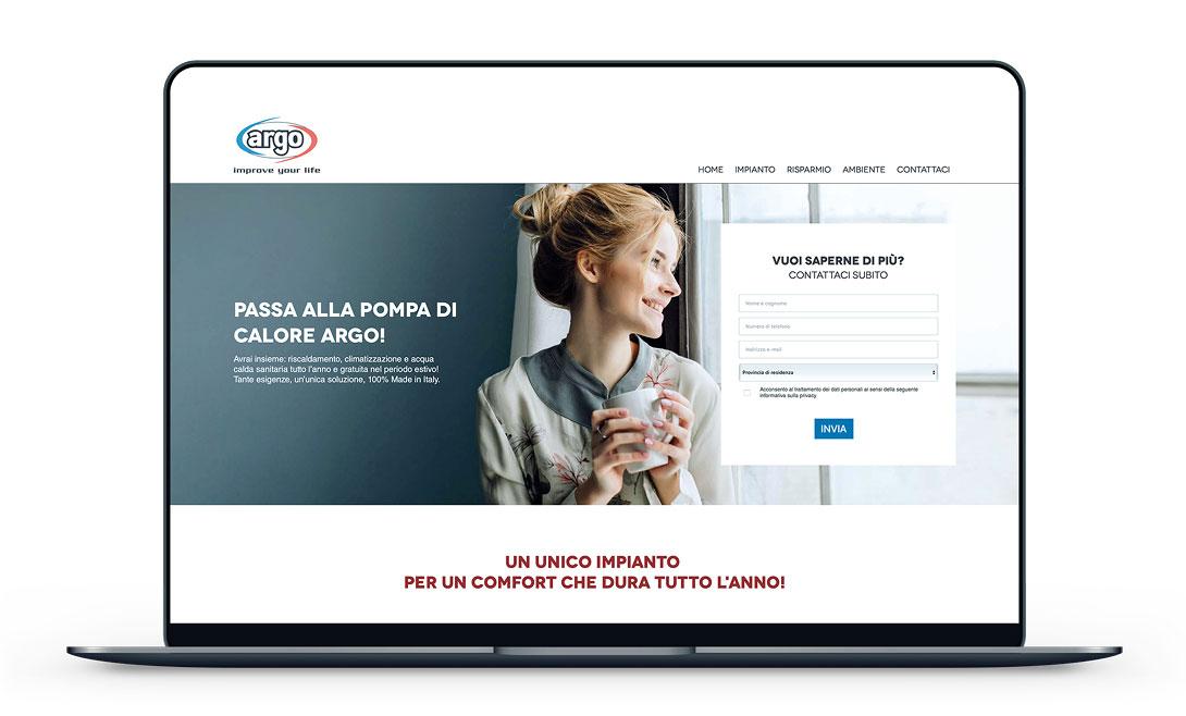 Campagna marketing Landing page Argo